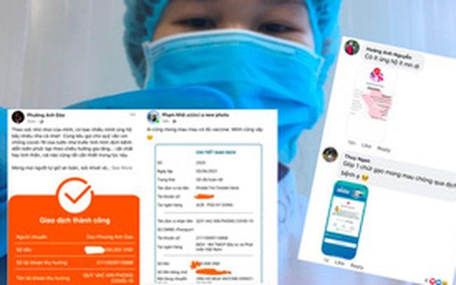"""Ảnh chụp màn hình hot nhất MXH lúc này: Dân mạng thi nhau khoe đã """"góp gạo"""" cùng những lời chúc đáng yêu đến Quỹ Vaccine Covid-19"""