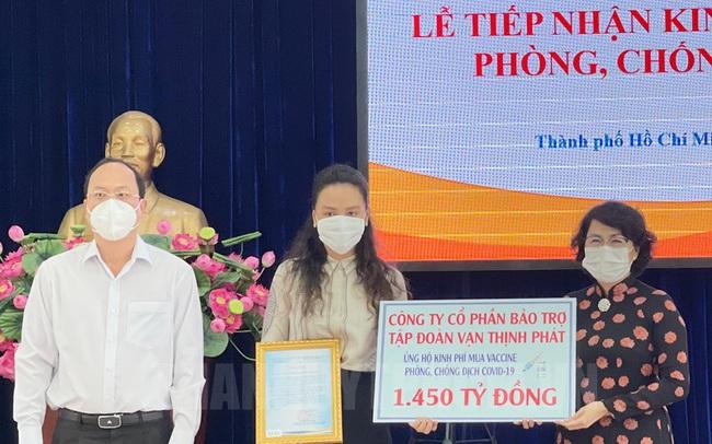 Công ty của Vạn Thịnh Phát ủng hộ TP.HCM 1.450 tỷ đồng kinh phí mua vaccine chống dịch Covid-19