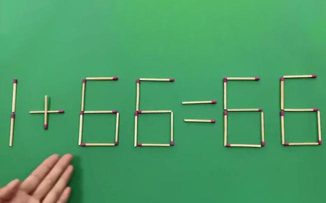 """Làm thế nào để 1 + 66= 66?, trả lời đúng câu hỏi này trong 5 giây thì bạn đúng là """"đỉnh của chóp"""""""
