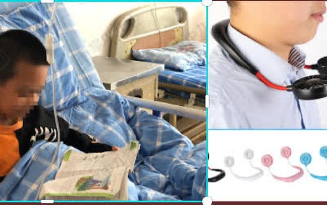 Bé trai 7 tuổi bị liệt mặt sau khi đeo quạt làm mát đeo cổ, hãy cẩn trọng với các phương pháp hạ nhiệt mùa hè