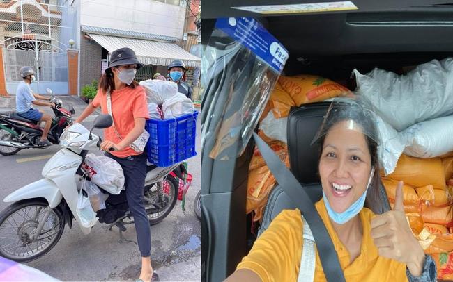 Hoa hậu Việt làm shipper hỗ trợ người dân trong dịch COVID-19: Lên sân khấu lộng lẫy bao nhiêu, đi làm tình nguyện giản dị, chất phác bấy nhiêu