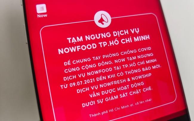 Grab, Gojek, Now, Baemin đồng loạt thông báo tạm ngừng giao đồ ăn tại TP.HCM