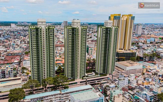 Ảnh: Cận cảnh toà nhà Thuận Kiều Plaza, nơi chuẩn bị được trưng dụng làm bệnh viện dã chiến điều trị COVID-19