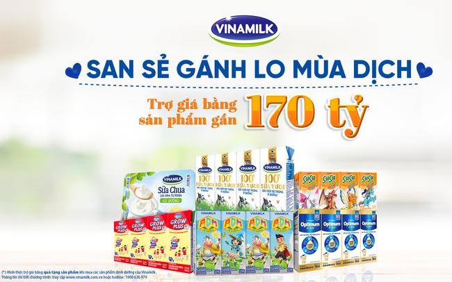 San sẻ khó khăn mùa dịch, Vinamilk hỗ trợ sản phẩm dinh dưỡng thiết yếu nhằm trợ giá người tiêu dùng lên đến gần 170 tỷ đồng