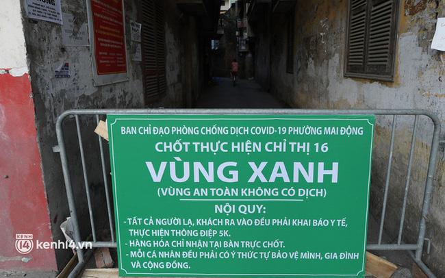 """Ảnh: Những chốt bảo vệ """"vùng xanh không Covid-19"""" đầu tiên ở Hà Nội"""