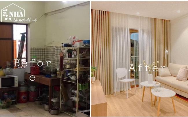 """Vợ chồng trẻ cải tạo A - Z chung cư cũ thành căn hộ trang nhã """"đi đâu cũng muốn về"""" với mức giá 350 triệu cho cả đồ điện tử: Gia đình nhỏ nên tham khảo vì quá hợp lý!"""
