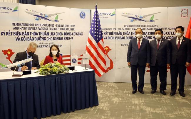 Bamboo Airways chính thức ký thoả thuận 2 tỷ USD với GE, công bố đường bay thẳng Việt – Mỹ dự kiến khai thác đầu năm 2022 tuần suất 3 chuyến/tuần