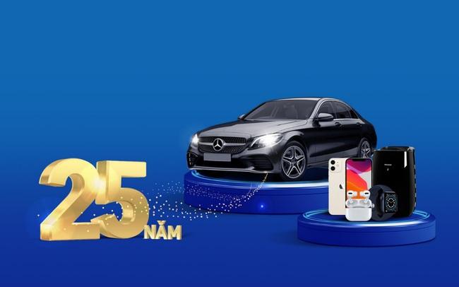 Đã có 51 khách hàng trúng thưởng mừng sinh nhật VIB, một người trúng xe Mercedes