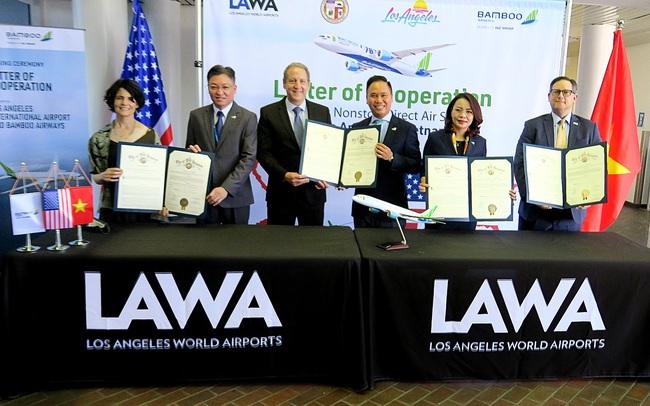 Bamboo Airways lý giải việc chọn Los Angeles, ký kết hợp tác 4 bên xúc tiến đường bay thẳng Việt - Mỹ trong thời gian tới