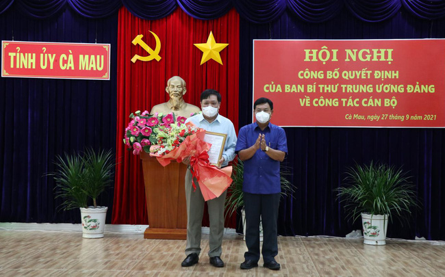 Ông Phạm Thành Ngại làm Phó Bí thư Tỉnh ủy Cà Mau