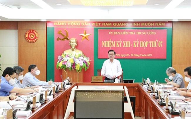 Ủy ban Kiểm tra Trung ương quyết định thi hành kỷ luật một số cán bộ