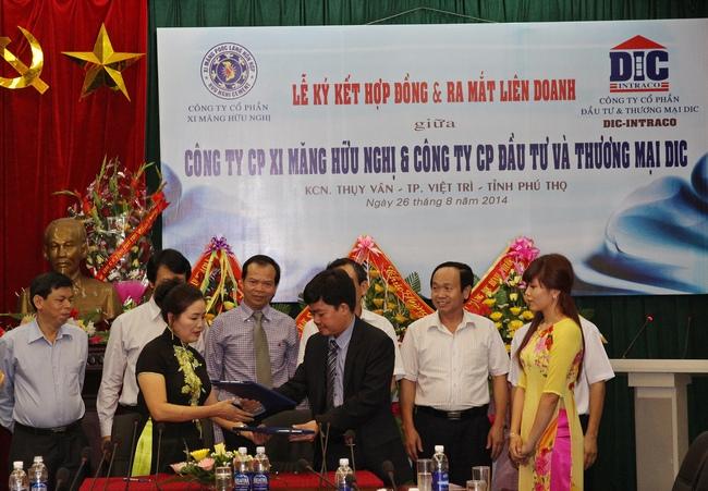 CTCP Đầu tư & thương mại DIC ký hợp tác chiến lược với CTCP Xi măng Hữu Nghị