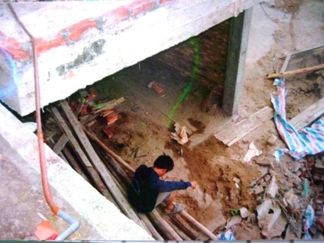 Một công trình xây trên cống thoát nước chung