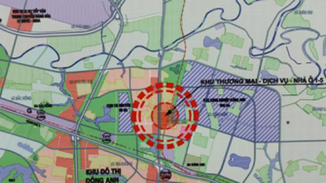 Công bố quy hoạch chi tiết khu thương mại, dịch vụ, nhà ở 1/5 thuộc thị trấn Đông Anh