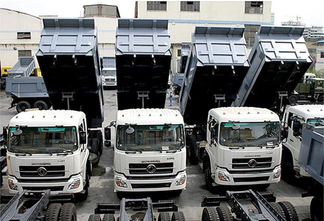 Khuyến cáo về nhập khẩu xe tải, xe tự đổ...