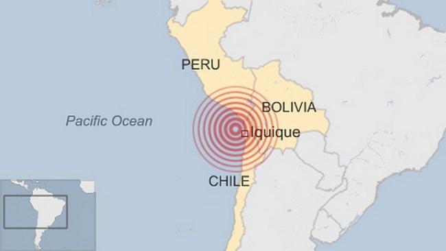 Động đất 8 độ Richte ở Chile, cảnh báo sóng thần