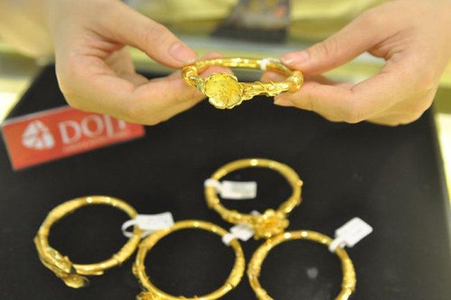 Giá vàng xuống dưới 36,5 triệu đồng/lượng