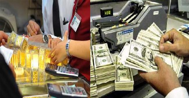Giá vàng lại lên sát 37 triệu đồng/lượng, USD ngân hàng lún sâu