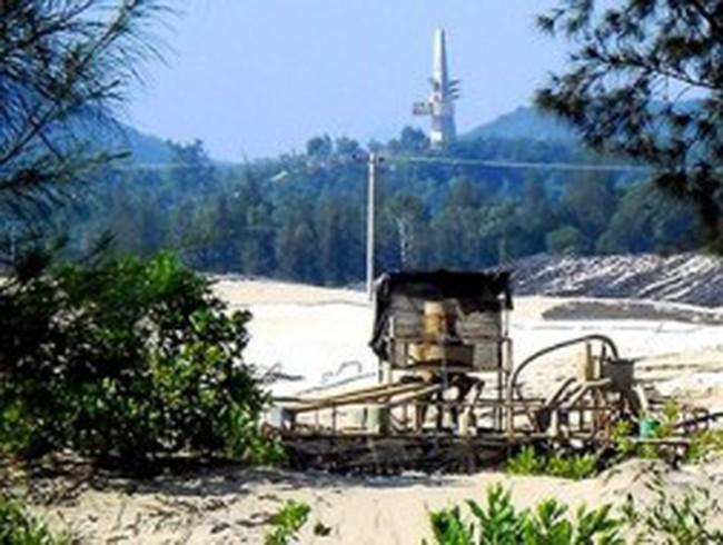 Di dời máy móc khai thác titan khỏi sân bay Chu Lai trước ngày 30.6