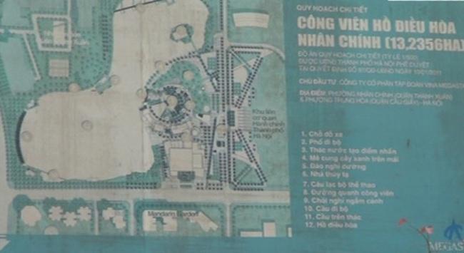 Quận Thanh Xuân trả lời về việc quản lý Khu đất Công viên hồ điều hòa Nhân Chính