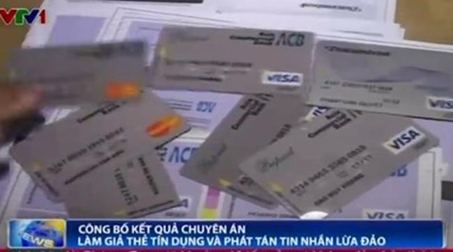 Công bố kết quả chuyên án làm giả thẻ tín dụng và phát tán tin nhắn lừa đảo