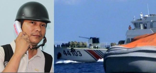 """Tường thuật """"nóng"""" tại Hoàng Sa sáng ngày 14.5: Căng thẳng 2 giờ quần thảo với tàu hải giám Trung Quốc"""