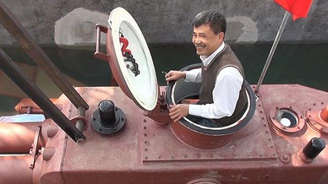 Doanh nhân Thái Bình tính thử tàu ngầm ở biển Tiền Hải