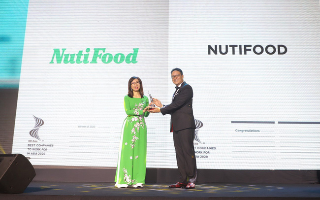 NutiFood được bình chọn Top Doanh nghiệp có môi trường làm việc tốt nhất Châu Á 2020