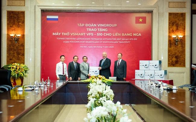 Vingroup trao tặng 1.000 máy thở cho Nga, Ucraina và Singapore