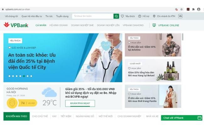 VPBank ra mắt website mới theo phong cách thương mại điện tử tích hợp trí tuệ nhân tạo