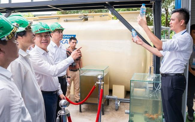 Tập đoàn Sơn Hà bắt đầu thử nghiệm công nghệ xử lý nước thải có thể làm sạch nước sông Tô Lịch