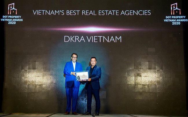 """DKRA Vietnam bứt phá với """"cú đúp"""" giải thưởng Dot Property Vietnam Awards 2020"""