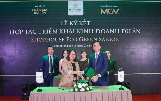 Xuân Mai Sài Gòn và MGV ký kết hợp tác triển khai kinh doanh Shophouse dự án Eco Green Saigon