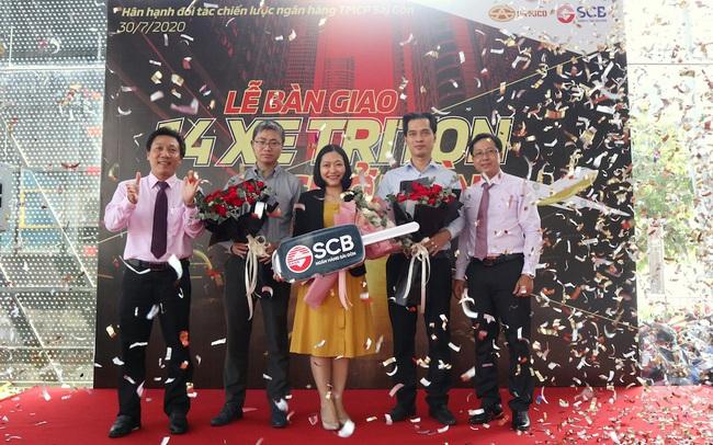 Đại Lý Mitsubishi Satsco bàn giao 14 xe chở tiền cho Ngân hàng TMCP Sài Gòn
