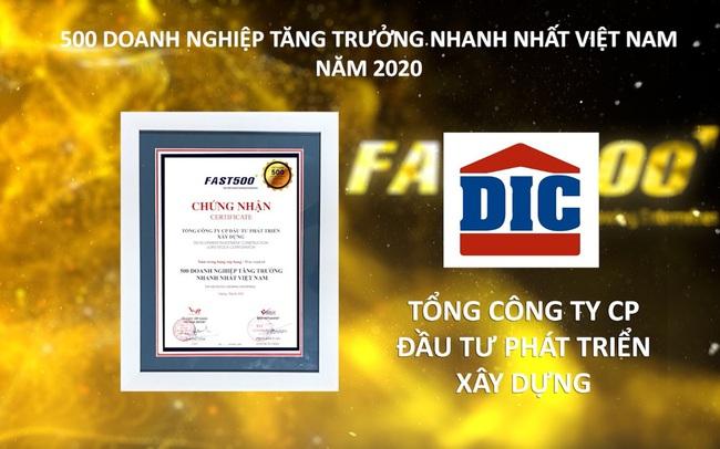 Tập đoàn DIC tăng hạng vượt bậc trong bảng xếp hạng FAST500 năm 2020