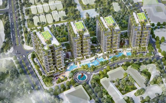 Dự án căn hộ tại Long Biên sở hữu hệ thống suối và thác nước liên hoàn hàng trăm mét
