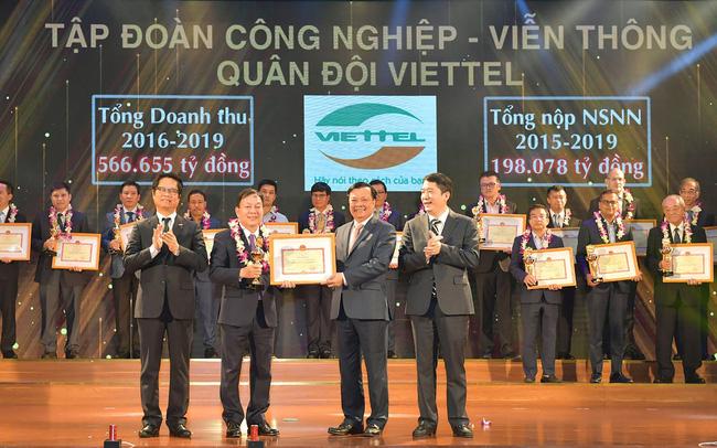 Viettel được vinh danh là một trong những doanh nghiệp nộp thuế lớn nhất trong 30 năm