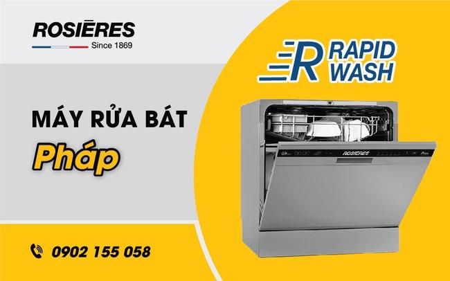 Rosieres ứng dụng công nghệ RapidWash vào sản xuất máy rửa bát