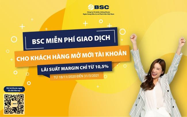 Miễn phí giao dịch chứng khoán tại BSC
