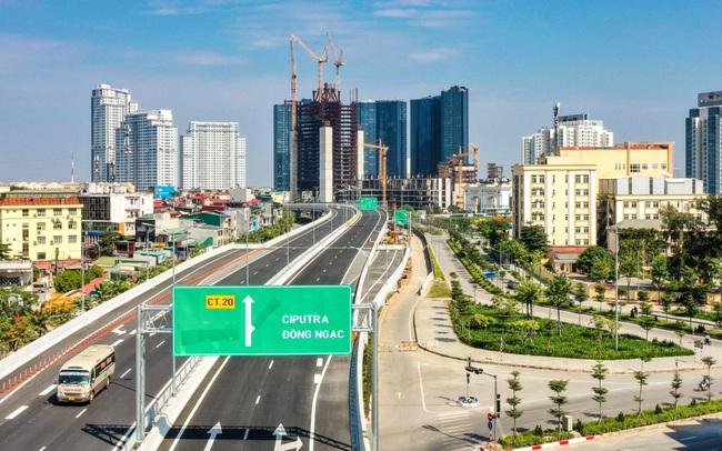 Cận cảnh cầu cạn Mai Dịch – Nam Thăng Long đã hoàn thành