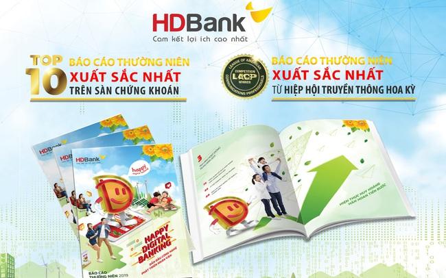 """Thông điệp """"Happy Digital Bank"""" đưa BCTN HDBank giành nhiều giải thưởng lớn"""
