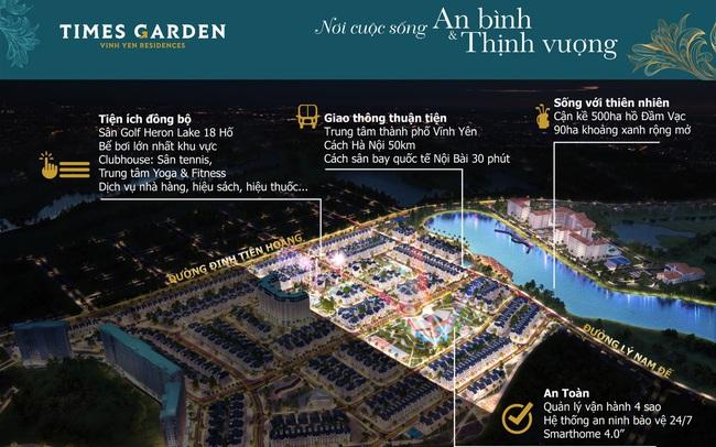 Times Garden Vĩnh Yên Residences thu hút nhà đầu tư nhạy bén với biệt thự ven hồ