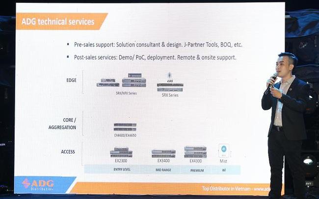 """Juniper Networks trao chứng nhận """"PSS - Đối tác Hỗ Trợ Dịch Vụ"""" cho nhà phân phối ADG"""