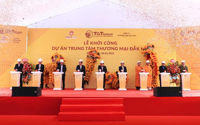 T&T Group và Worldsteel Group khởi công xây dựng trung tâm thương mại tại Đắk Nông