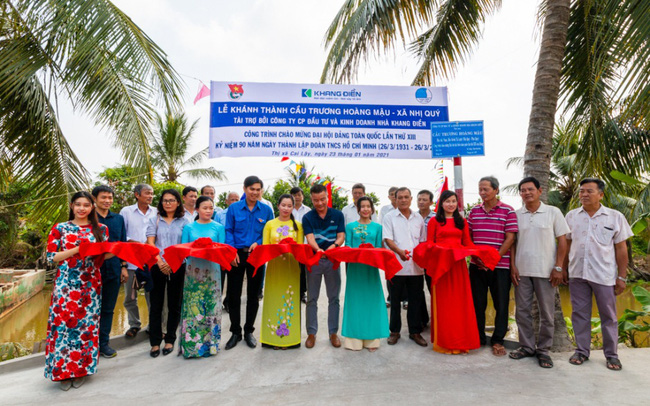 Khang Điền trao tặng 2 cây cầu nông thôn tại tỉnh Tiền Giang