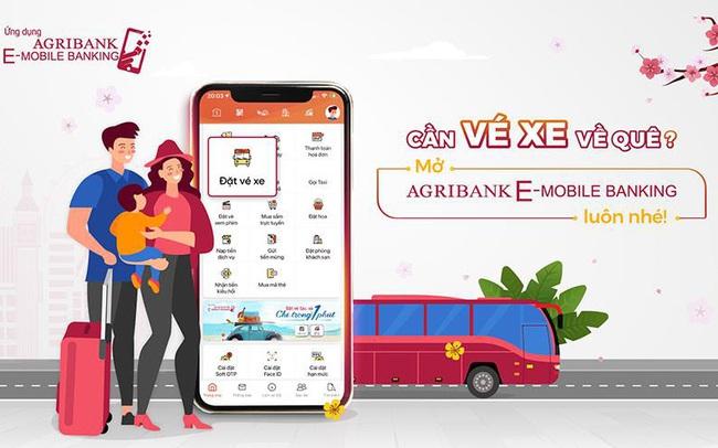 Đặt vé xe khách trực tuyến trên ứng dụng Agribank E-Mobile Banking