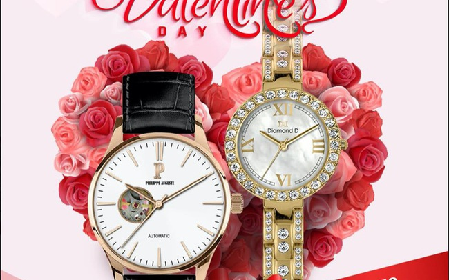 Đồng hồ đeo tay gắn kết yêu thương - Khuyến mãi lớn nhân dịp Valentine 14/2