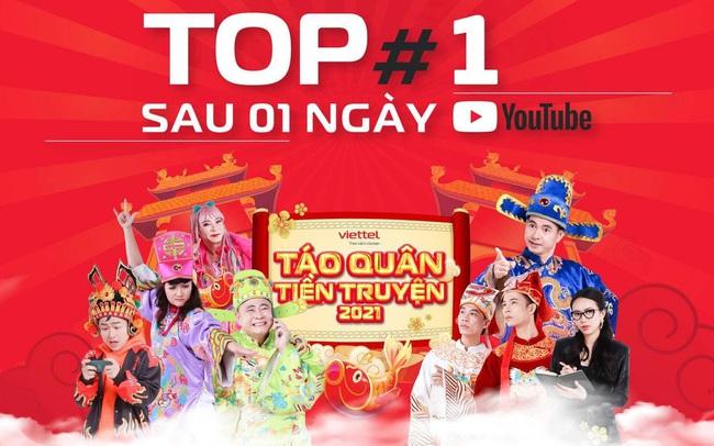 """Táo Quân Tiền Truyện dễ dàng chiếm top 1 trending YouTube, nhiều gương mặt nổi tiếng giới trẻ cũng phải """"phát sốt"""""""
