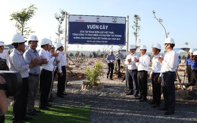 Phát động phong trào 'Tết trồng cây' tại Công ty Nhiệt điện Vĩnh Tân