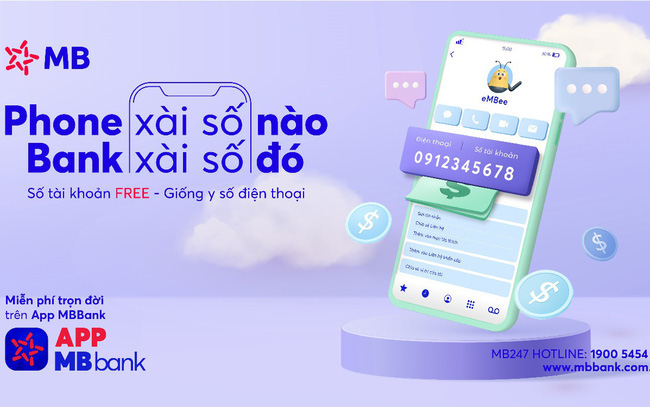 MB chính thức triển khai mở tài khoản số đẹp trùng số điện thoại ngay trên ứng dụng
